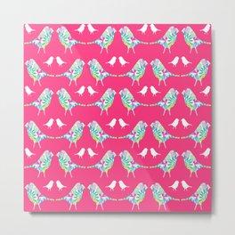 Pink Bird Print Metal Print