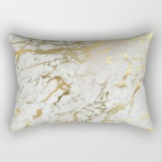 Gold marble Rectangular Pillow