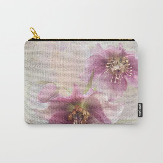 hellabores with typography Carry-All Pouch
