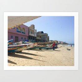 Senegalese fishing boats Art Print