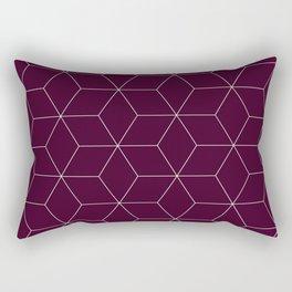 Hex Cabernet Rectangular Pillow