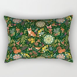 Treasures of the emerald woods Rectangular Pillow
