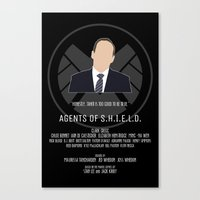 agents of shield Canvas Prints featuring Agents of S.H.I.E.L.D. - Coulson by MacGuffin Designs