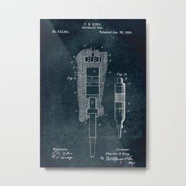 1894 - Pneumatic tool patent art Metal Print