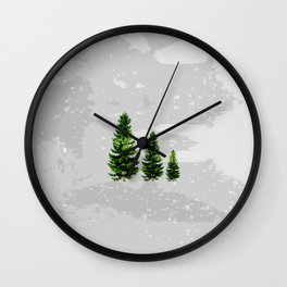 Three Cute Trees Wall Clock