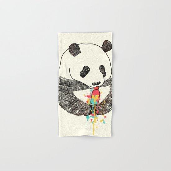 Panda Loves Ice Cream Hand & Bath Towel