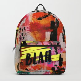 Abstract Blah Blah Backpack