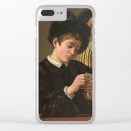 "Michelangelo Merisi da Caravaggio ""Cardsharps"" Clear iPhone Case"