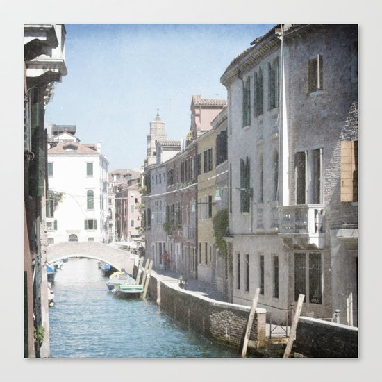 The Side Street - Venice, Italy Canvas Print