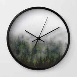 Misty tree Wall Clock