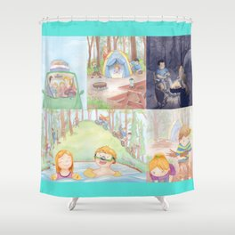 Our Camping Trip Shower Curtain