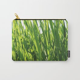 Large reeds leaves in a cane grove Carry-All Pouch