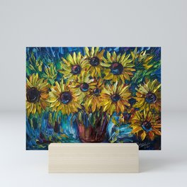 Sunflowers Palette Knife Mini Art Print