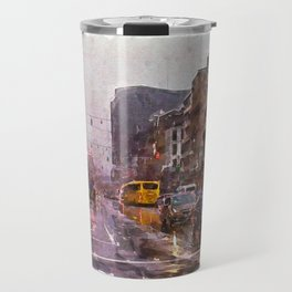 Rainy Day Traffic Travel Mug