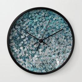 Mermaid Scales Aqua Sol Wall Clock