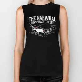 The Narwhal Conspiracy Theory Biker Tank
