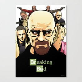 Breaking Bad cover Canvas Print