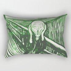 The Scream's Haze (green) Rectangular Pillow