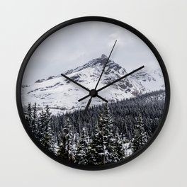 Landscape mountain view and pine forest Wall Clock