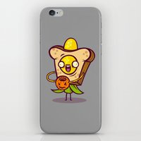 bread iPhone & iPod Skins featuring Corny Bread by Artistic Dyslexia