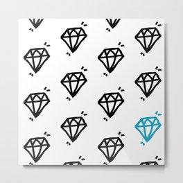 Blue Diamond Metal Print