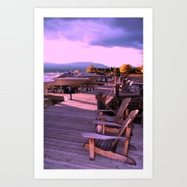 Afternoon On The Dock Art Print