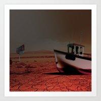 Deseert Boat Art Print