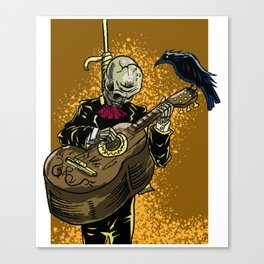 Mexican Dead Skeleton Guitar Mexicans Latinos Gift Canvas Print