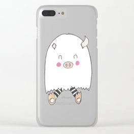 Fuzzle-umptkin Clear iPhone Case