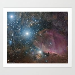 Orion Belt, Flame, and Horsehead Art Print