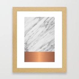 Carrara Italian Marble Holiday Rose Gold Edition Framed Art Print