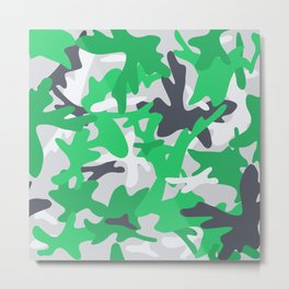 Camouflage military background. Metal Print