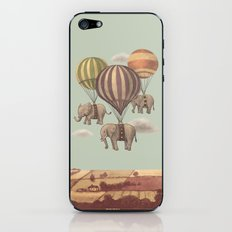 Flight of the Elephants - mint option iPhone & iPod Skin