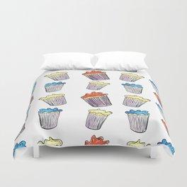 Sweet Tooth Cupcake Pattern Duvet Cover