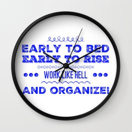 Work & Organize Wall Clock