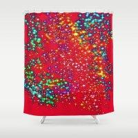 sparkle Shower Curtains featuring Sparkle  by Sammycrafts