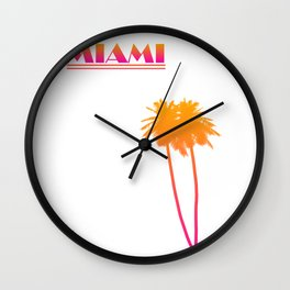Cities Of America: Miami  Wall Clock