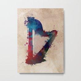 harp art #harp Metal Print