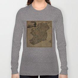 Vintage Map of Ireland (1797) Long Sleeve T-shirt