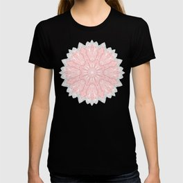 MANDALA IN GREY AND PINK T-shirt