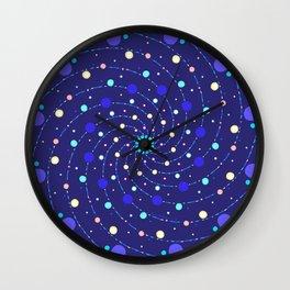 Blue Ray Star Mandala Wall Clock