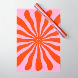 Retro Sun Vintage 70s  Wrapping Paper