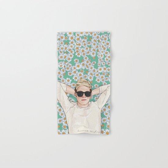 Niall daisies field Hand & Bath Towel
