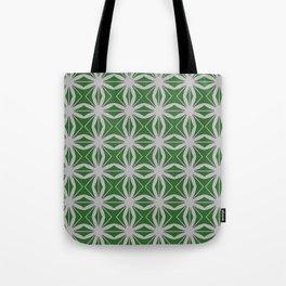 Mesmerizing Moroccan Tile Deep Moss Green Tote Bag