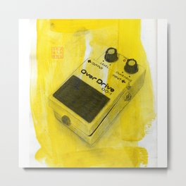 Overdrive Pedal Metal Print