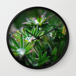 Lupines in Spring 3 Wall Clock