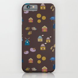 Farm animals in dark iPhone Case