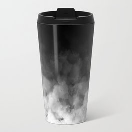 Ombre Black White Clouds Minimal Travel Mug