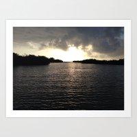 Sun rise at the spanish Keys  Art Print