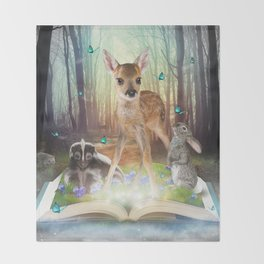 Believe In Magic • (Bambi Forest Friends Come to Life) Throw Blanket
